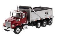WESTERN STAR RED 4700 SF DUMP TRUCK W/ GREY DUMP BOX 1/50 DIECAST MASTERS 71032