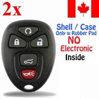 2x New Replacement Keyless Entry Key Fob Case For Chevy Buick GMC - Shell Only