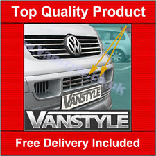 VW TRANSPORTER T5  FRONT LOWER GRILLE 2003-2009 CHROME STAINLESS STEEL STRIPS