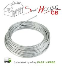 2mm Galvanised Wire Rope Zinc Steel Rope Cable Rigging Price Per Meter FREE P+P
