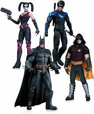 Arkham City: Harley Quinn, Batman, Nightwing, & Robin Action Figure 4-Pack Dmg