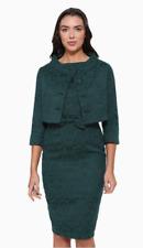 LINDY BOP Maybelle Dress & Jacket Set - Emerald Green Brocade - UK 16 - BNWT