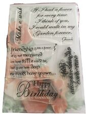 Clear Floral Sentiments Stamps