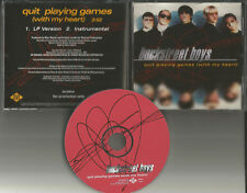 BACKSTREET BOYS Quit Playing games w/ RARE INSTRUMENTAL PROMO DJ CD Single 1997