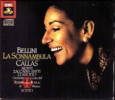 BELLINI: LA SONNAMBULA Maria CALLAS Zaccaria Monti Cossotto VOTTO EMI 2CD 1986