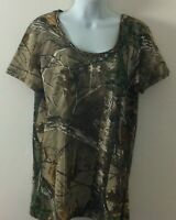 Under Armour Women's Camouflage Top Large Realtree Licensed Heatgear NWT