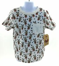 Free Planet Boys White Reindeer Short Sleeve T Shirt Size Small (4)