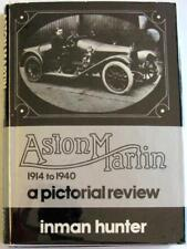 ASTON MARTIN 1914 TO 1940 A PICTORIAL REVIEW Inman Hunter ISBN 0851840205 Book