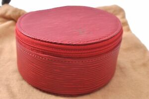 Authentic Louis Vuitton Epi Ecrin Bijoux Jewelry Case Red M48217 LV C7448