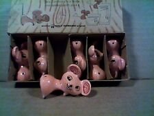 RARE Holt Howard MERRY MOUSE Cocktail Cherries & Olives Pixie Holders CUTE!!!
