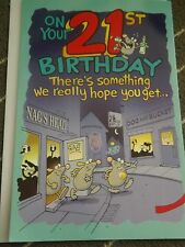 """"""" ON YOUR 21st BIRTHDAY """" Funny Larger Card- See Photo's"""