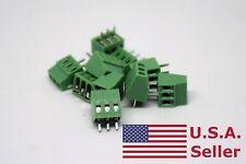 "50Pcs 2.54mm 0.1"" Universal 3 Pin 3 Poles PCB Screw Terminal Block Connector"