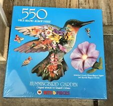 """Bits & Pieces Hummingbird Garden 550 Piece Shaped Puzzle NEW Sealed 20""""x27"""""""