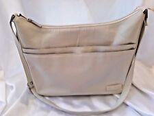 Jane Shilton Cream Leather Handbag Shoulder bag Organiser Pocket Hardly Used