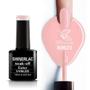 Shinerlac 80623 'PINK PERSUIT' UV/LED Soak Off Gel Nail Polish Free Postage