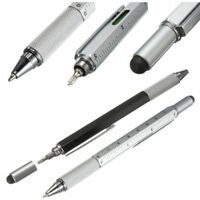 Touch Screen Ballpoint Pen Screwdriver Portable Stylus Multifunctional Ruler