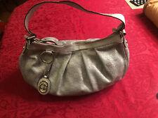 Authentic Gucci Sukey Guccissima Leather Silver Handbag