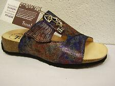Think! Pantolette Mizzi effekt multicolor mit Klettverschluß incl.Thinktüte