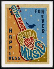 Guitar Forever Happiness Framed Wall Art