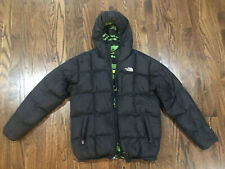 THE NORTH FACE REVERSIBLE 550 HOODED DOWN JACKET Black BOYS Size X-Large 18/20