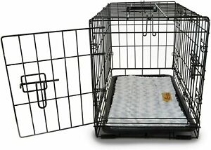 PETSWORLD Single/Double Door Dog Crate, w/Divider + Dog Bed Included