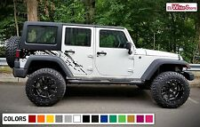 Decal Sticker Vinyl Side Rear Mud Splash Kit for Jeep Wrangler JK Door Offroad