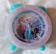 Disney Frozen, Children's Pink & blue easy learning bedside clock. VG