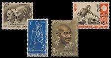 INDIA 1969-Mahatma Gandhi Birth Cent. Set of 4-S.G. 595-598-Mint Gum Wash