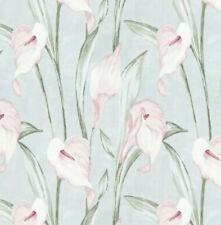 5 rouleaux de Laura Ashley Summer Palace Papier Peint-Bleu Royal même Lot