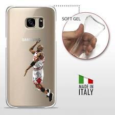 Samsung Galaxy S7 Edge TPU COVER PROTETTIVA GEL TRASPARENTE NBA Basket Jordan