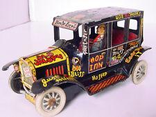 "1950s MARX TIN WIND UP 7"" OLD JALOPY w DRIVER WORKS GREAT!"