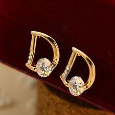 NewAlloyEarrings FashionDesign Letter D Stub Earring Womenlovely Earring