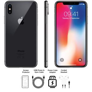 Apple iPhone X 256GB Space Gray Factory Unlocked CDMAGSM Warranty Global A Grade