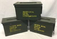 .50cal / 5.56mm M2A1 Ammo Can -Grade 2- US Military Surplus - Great For Storage