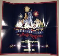 Walt Disney World Magic Kingdom park brochure 45Th Anniversary guide map 10/1/16