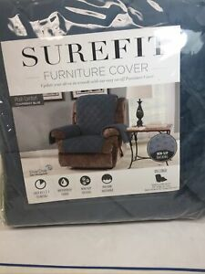 SUREFIT Recliner Furniture Cover Chambray Blue New in Original Package