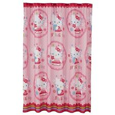 NEW HELLO KITTY FABRIC SHOWER CURTAIN JUBILEE COLLECTION