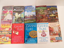Lot of 10 cozy mysteries bY JOANNE FLUKE, KARI LEE TOWNSEND, DELIA ROSEN,  ETC