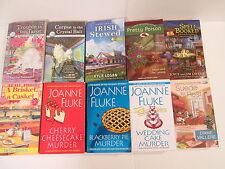 Lot of 10 cozy mysteries bY JOANNE FLUKE, KARI LEE TOWNSEND, DELIA ROSEN,  ETC