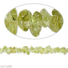 "Peridot Mini Chip Beads 36"" Strand  (1) Gorgeous Beads! 3mm - 5mm"