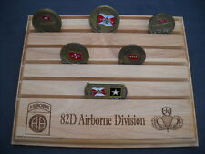 Military Challenge Coin Holder/Display 8x10, 82D Airborne