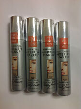 4 X Trial Size Sally Hansen Airbrush Makeup Foundation NUDE TAN NEW.