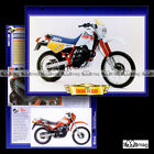 #124.04 Fiche Moto CAGIVA T4 350 R 1987-1989 Trail Bike Motorcycle Card