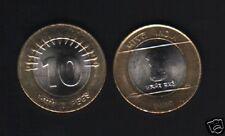 INDIA 10 RUPEES NEW 2009 ASHOKA PILLAR BI METAL UNC MONEY INDIAN COIN ASIA