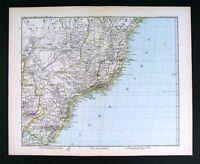 1882 Petermann Map - South America - Brazil Rio de Janeiro Sao Paulo Salvador