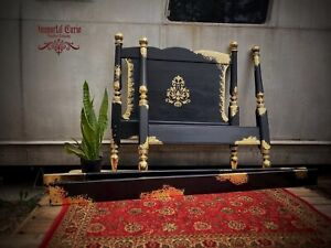 Gothic Cannonball-Style bed Frame