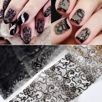 10 Sheets/set Lace Printing Nail Art Starry sky Stickers Decor Tips Manicure