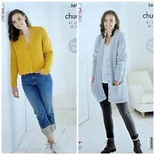 King Cole Chunky Ladies Cardigans Pattern 5690