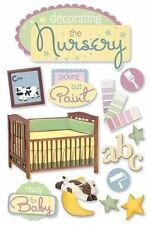 PAPER HOUSE DECORATING NURSERY BABY PREGNANCY DIMENSIONAL 3D SCRAPBOOK STICKERS