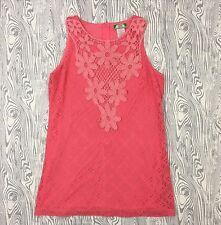 Flying Tomato Woman M  Top Pink Crochet Spaghetti Strap Lace Dress Short Summer